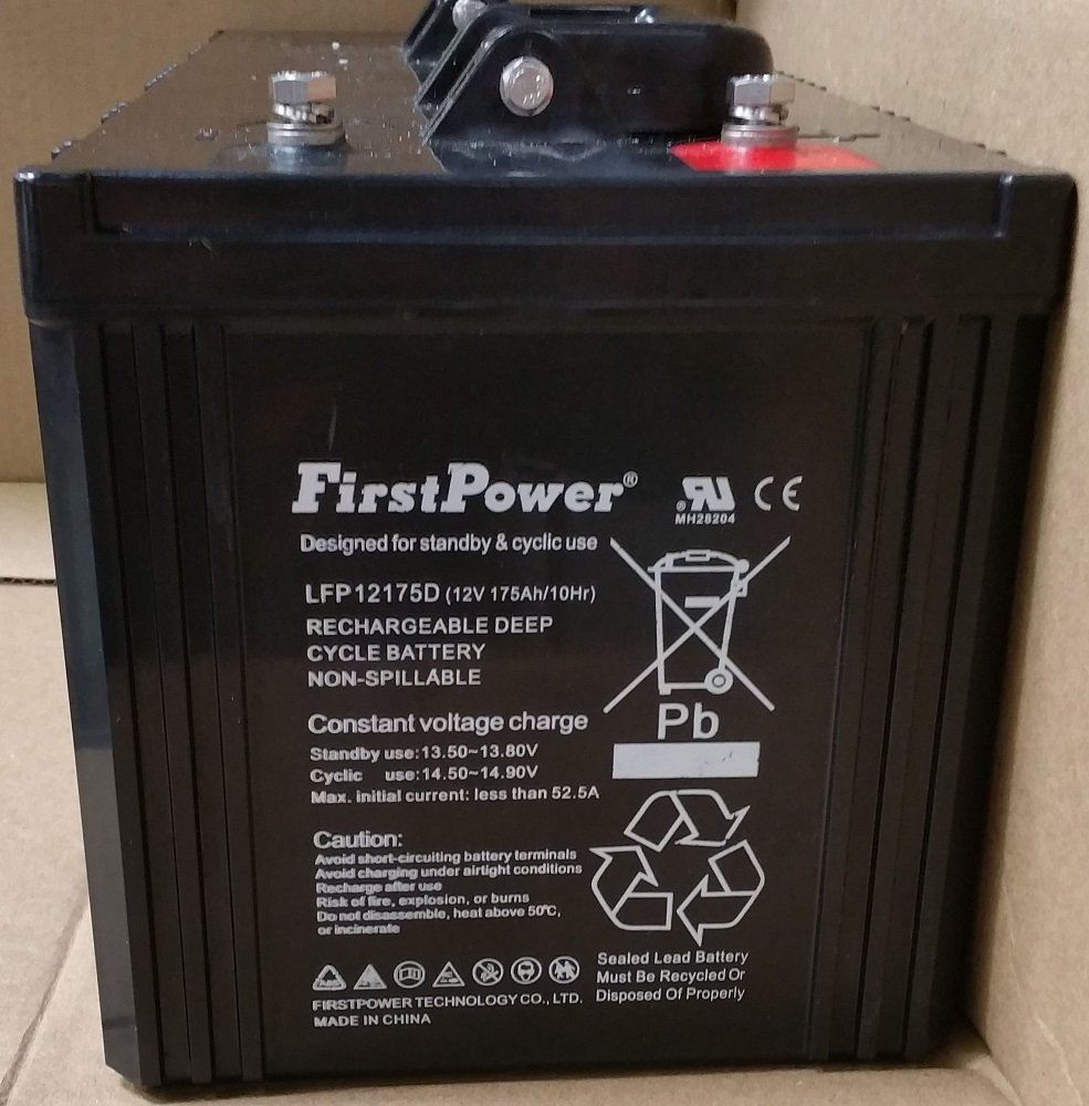 (3) FirstPower 12v 175ah for Solar Wind Power Backup deep cycle BATTERY
