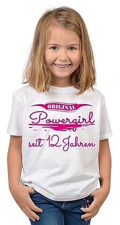 12 Geburtstag Sprüche T Shirt Kindergeburtstag Mädchen Original