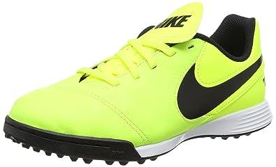 official photos 9b1d3 83360 Nike Unisex-Kinder Tiempox Legend VI TF Fußballschuhe, Gelb Black Volt,  33.5 EU
