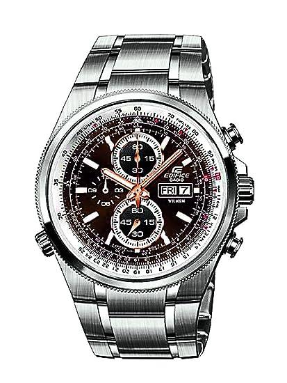 CASIO Edifice EFR-506D-5AVEF - Reloj analógico de Cuarzo con Correa de Acero Inoxidable para Hombre, Color Plateado: Amazon.es: Relojes