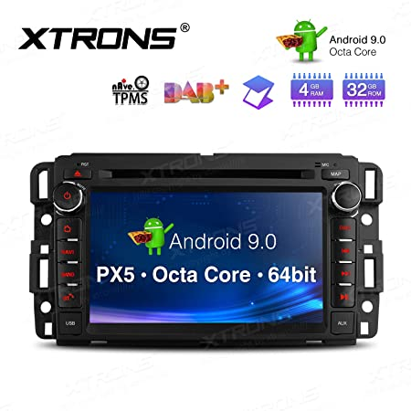 XTRONS 7 Android 9.0 Octa Core 4G RAM 32G ROM HD Digital Multi-Touch Screen OBD2 DVR Car Stereo DVD Player Supports Tire Pressure Monitoring WiFi OBD2 for Chevrolet GMC Hummer