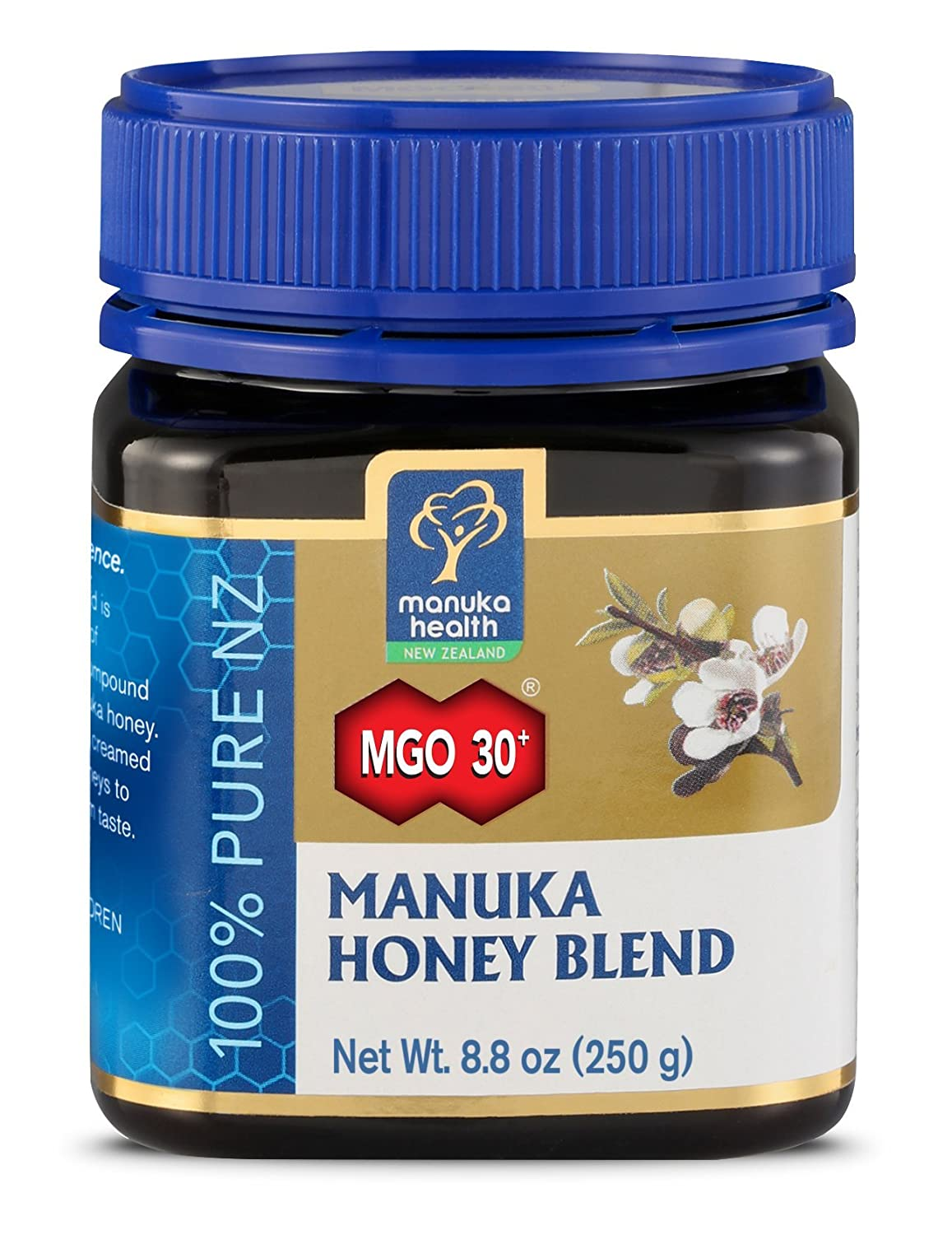 Manuka Health - MGO 30+ Manuka Honey Blend, 100% Pure New Zealand Honey, 8.8 Ounce
