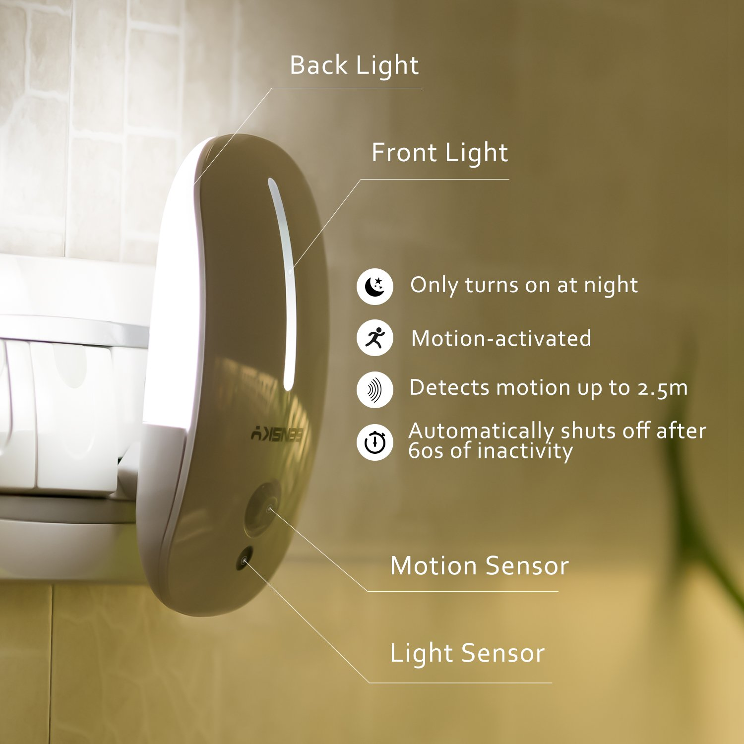 Sensky Plug in Motion LED Night Light