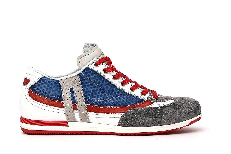 CAFegraveNOIR Cafegrave Noir KRF112 Sneakers Leder und Stoff 2334 Multiazzurro