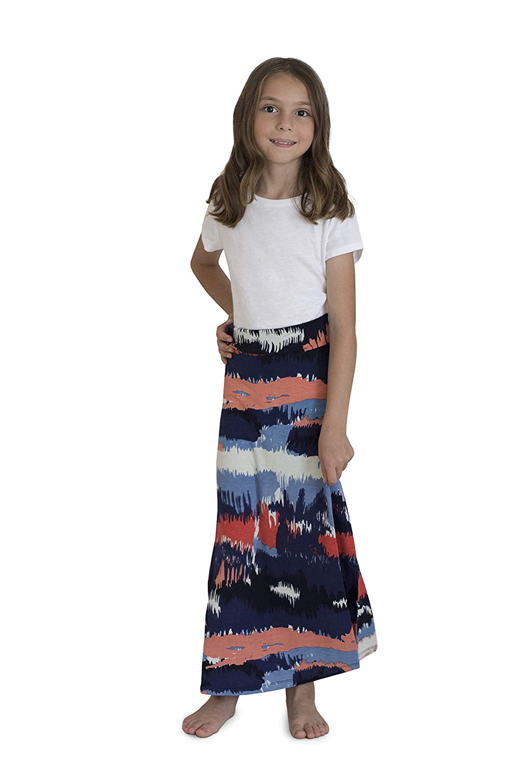 ef55165587 Amazon.com: KIDPIK Skirts for Girls – Cute Long Maxi Skirts in Black &  White 60s Stripes, Boho Tie-Dye, Desert Camo: Clothing