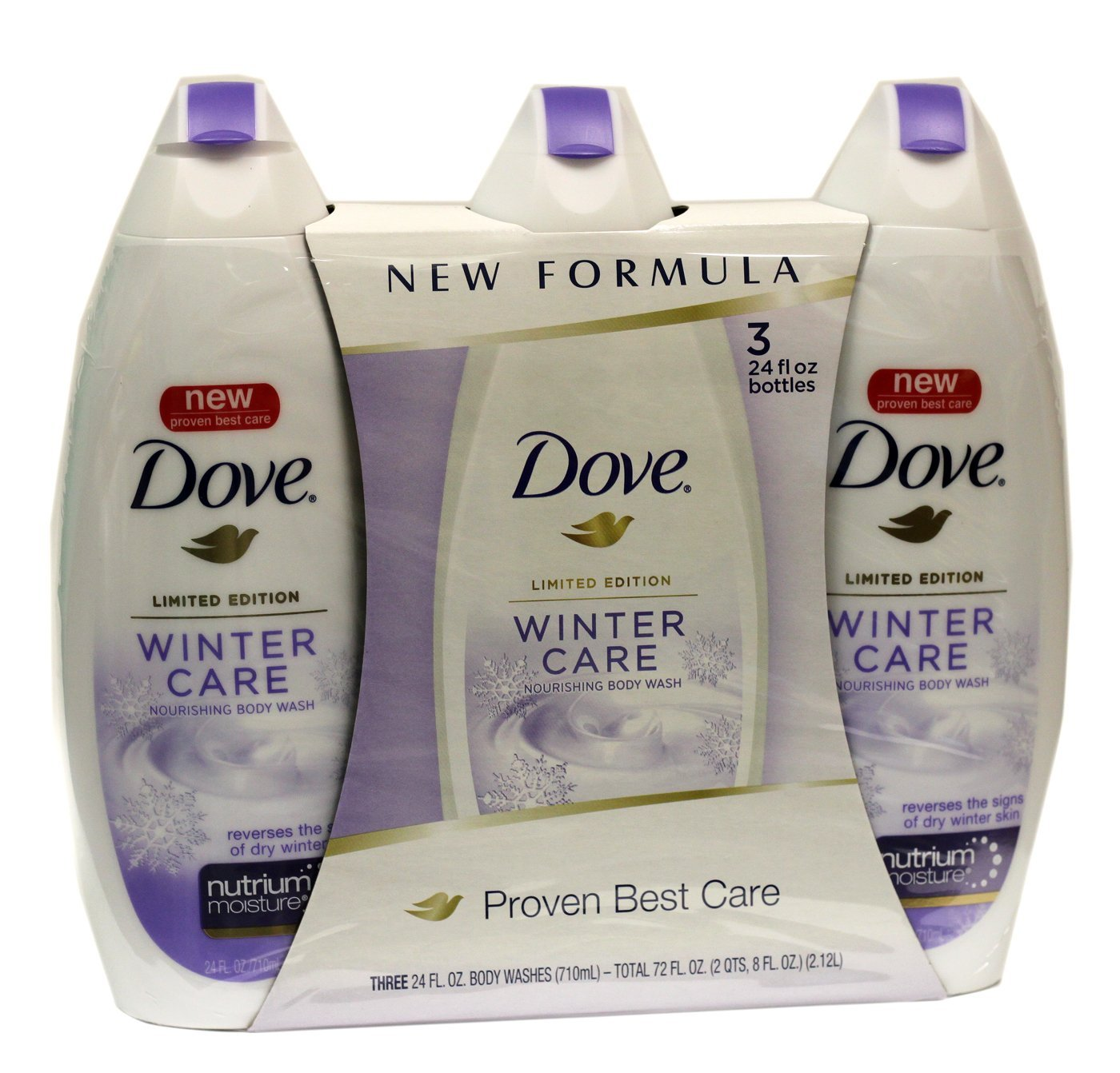 DOVE Winter Care Nourishing Body Wash 24-Ounce - 3-Pack