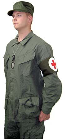 M.A.S.H. Style Medic Halloween Costume - Standard Package (Small Captain BJ Hunnicutt)  sc 1 st  Amazon.com & Amazon.com: M.A.S.H. Style Medic Halloween Costume - Standard ...