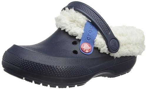 Crocs Blitzen II Clog Kids, Unisex Niños Zueco, Azul (Navy/Oatmeal), 29-31 EU