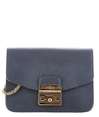 nouveau produit 004fa 15e5c Furla , Sac pour homme à porter à l'épaule Bleu/gris Marque ...