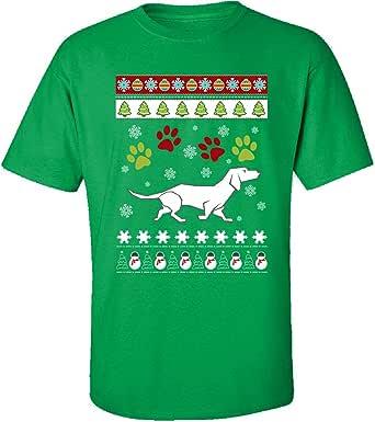 Suéter feo de Navidad con diseño de perro salchicha, gran ...