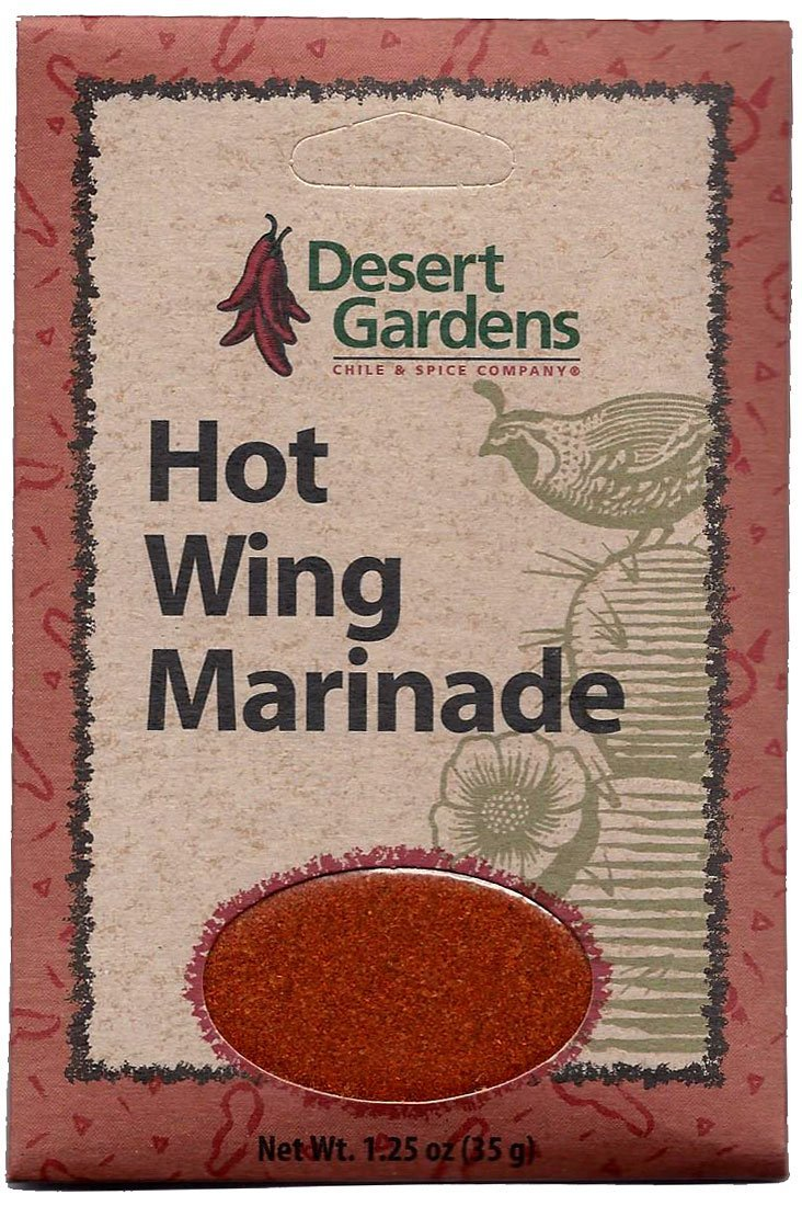 Desert Gardens Hot Wing Marinade Mix (Pack of 4)