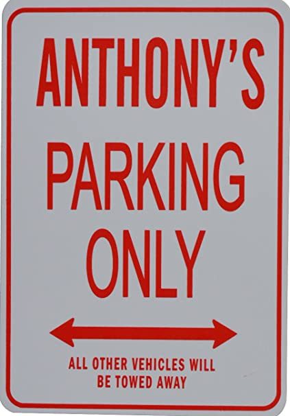 FUN FOR INDOOR or OUTDOORS PERSONALIZED PARKING SIGNS