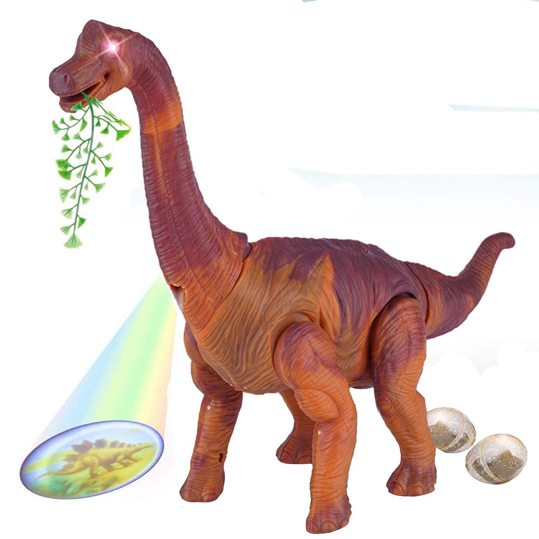 SZSMART Gehender Brachiosaurus Dinosaurier Set, Elektrisches Dinosaurier-Modell, Gehendes Leuchtendes Spielzeug bewegen, Jurassic World Riesendino Dinosaurier Spielzeug für Kinder ab 3+