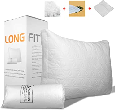 Renpho Memory Foam Bed Pillow For Sleeping,Orthopedic Contour Supported Pillow C