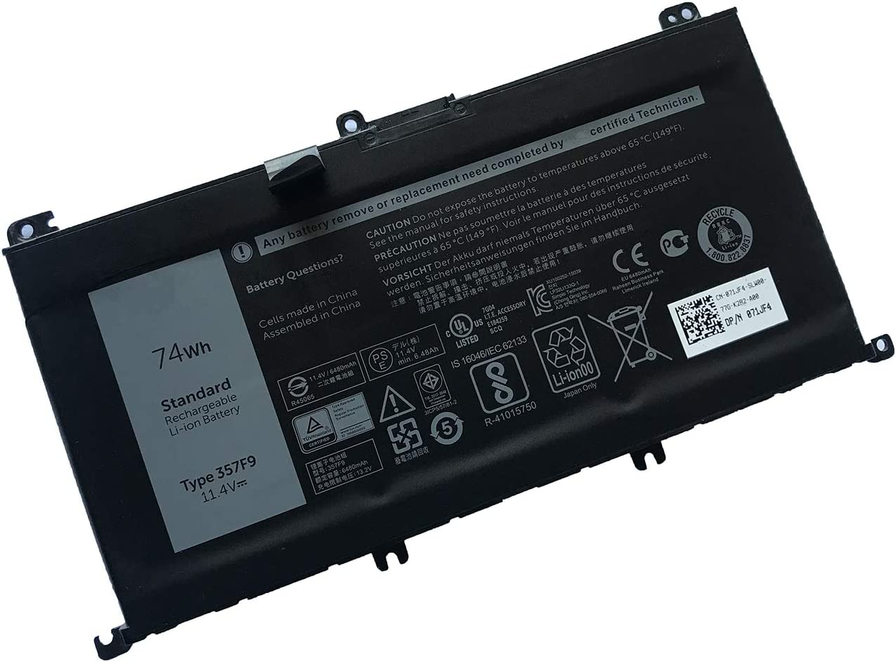 SAIENTEE 357F9 Notebook Battery for 15 5000 Series 5576 5577, 15 7000 Series 7557 7559 7566(11.1V 74Wh)