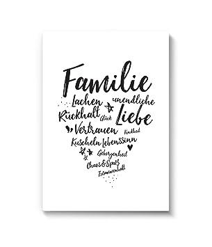 Poster Familien Herz Dina4 Wandbild Von Marelle Kunstdruck Spruch