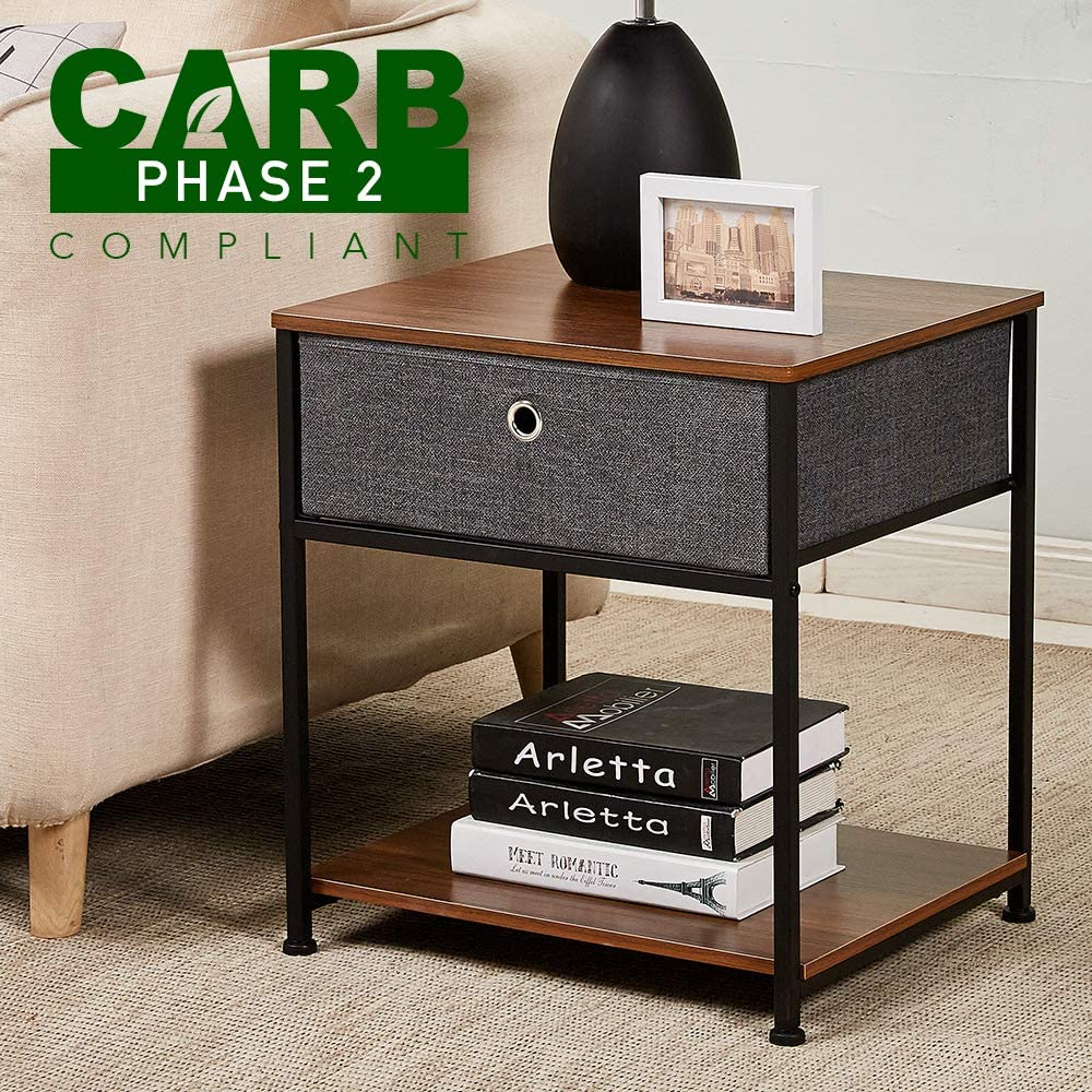 Amazon Com Rhf Rustic Nightstand Carb P2 Certificated Wood