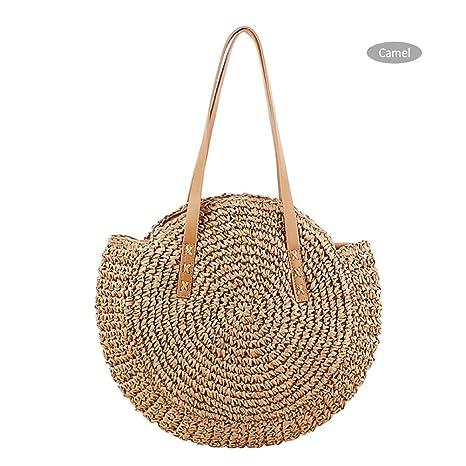 Shopping Bags Women New Straw Bag Small Fresh Simple Fashion Shoulder Bag Woven Handbags Beach Holiday Reusable Shopping Bag Free Shipping Luggage & Bags