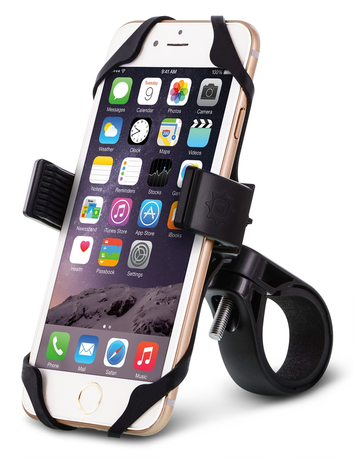 Okra Bicycle Motorcycle Phone Mount Holder [Extra Secure] Bike Handlebar Holder for iPhone Android all Smartphones Devices (Universal)