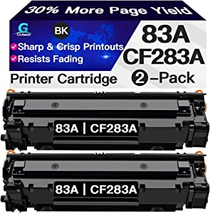Compatible 2-Pack 83A Toner Cartridge CF283A Used for HP Laserjet Pro MFP M225dw M225dn M201dw M201n M127fn M127fs M127fw M125nw M125fn (Black), Sold by Go4max