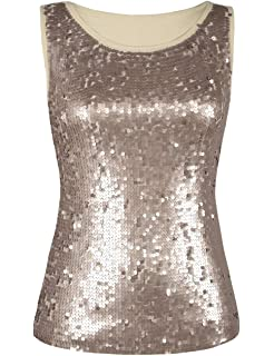 8c55ae76b35 Glistening Sequin Cocktail Club Party Top Shimmer Glam Glitter Plus ...