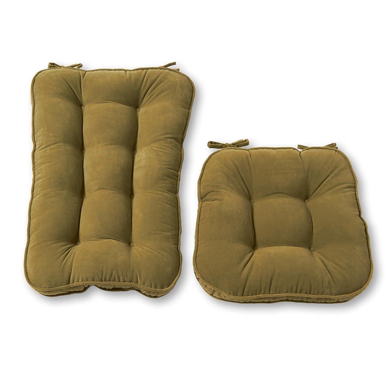 Greendale Home Fashions Jumbo Rocking Chair Cushion Set Hyatt Fabric, Burgundy 5161 - Burgundy