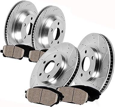 Front /& Rear All 4 Drilled /& Slotted Brake Rotors /& Ceramic Pads G35 Sport Sedan