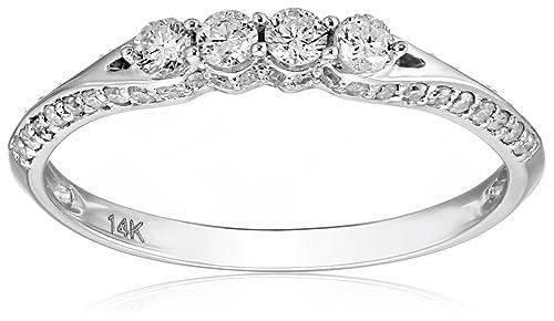 0.50 Carat (ctw) 14K Gold Round Diamond Ladies Anniversary Wedding Band Stackable Ring