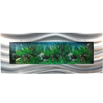Pared 1200 x 445 x 110 mm acuario, completamente XXL Set de accesorios para Nano Acuario Bomba IPX8 de la luz etc: Amazon.es: Productos para mascotas