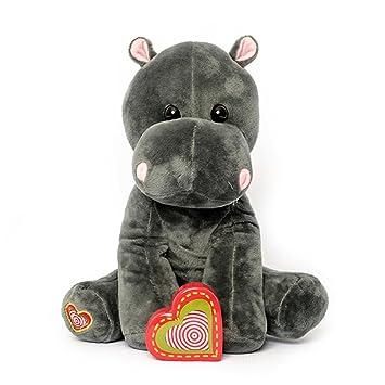 Amazon Com My Baby S Heartbeat Bear Hippo Stuffed Animal W 20