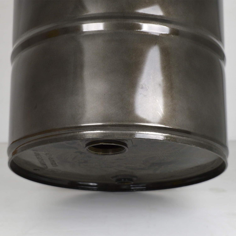 DS Dropshipping Mesa Bid/ón Baja Diametro 38cm 62cm de Altura en Aluminio y Madera Estilo Industrial Vintage.