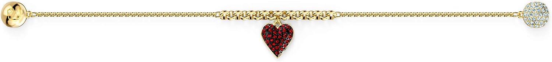 Swarovski Remix Collection Heart Strand M/étal Dor/é Rouge