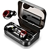 Wireless Earbuds, True Bluetooth Earbuds 5.0, 3D Stereo HiFi Wireless Headphones with 3500 mAh 150H Playtime Charging Case, TWS Bluetooth Headphones with Built-in Mic, Touch Control & LED Time Display
