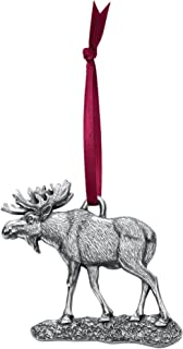 product image for DANFORTH - Moose Ornament - 2 Inches - Pewter - Handcrafted - Satin Ribbon - Made in USA
