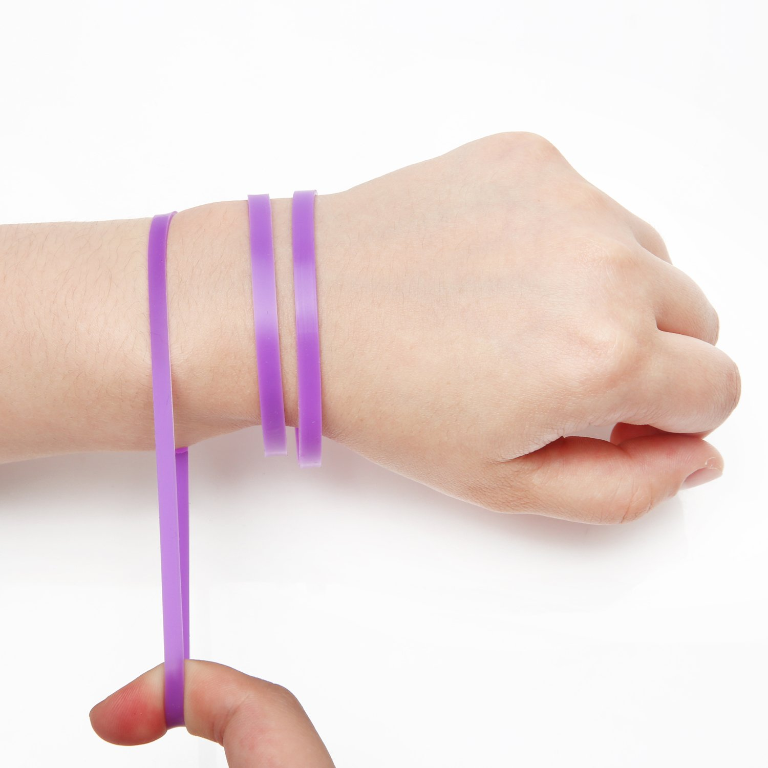 Slow is Fast Lucky Silicone Bracelet, High Elastic Silicone, Easy to Pull and Get Reminding of Purpose, Happy, Positive, Solid Plain Colors Soft Rubber Elastic Bangle Wristbands Adult Fashion Party