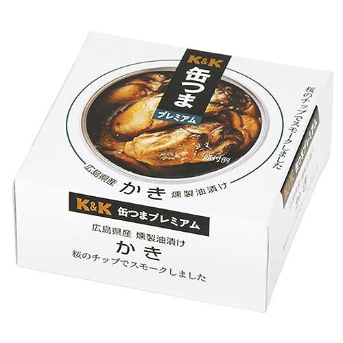 缶つまプレミアム 広島かき 燻製油漬け 60g×24個[2CS]