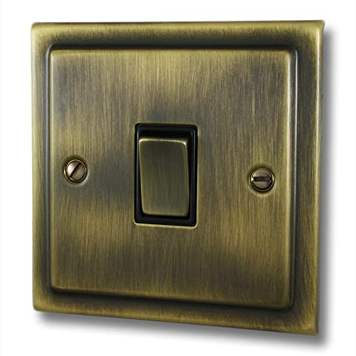 Light Switch 1 Gang 2 Way 10 Amp - Victorian - Antique Brass: Amazon ...
