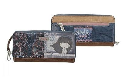 Sany Bags S.L. Anekke Zipper Wallet Cartera para Pasaporte, 21 cm, Beige