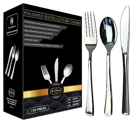 Amazon.com: JL Prime 120 - Juego de cubiertos de plástico ...
