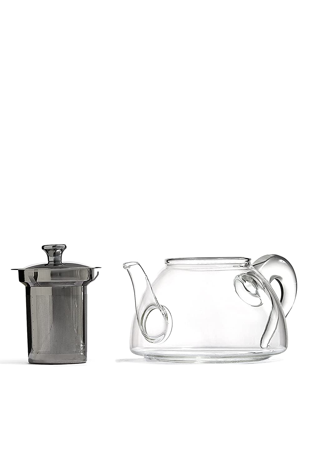 34 Fl Oz Glass Tea Pot With Stainless Steel Infuser Fine Filter Loose Leaf Teapot Clear