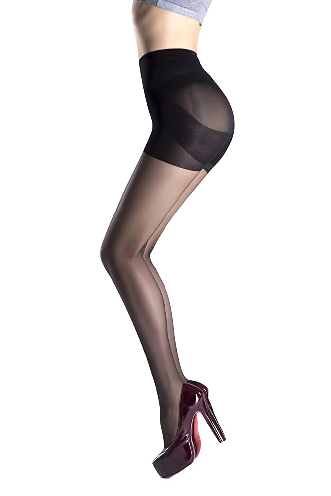 5837881816e Women Pantyhose Non Snag Tights Control Top Sheer for Business Suit Run  Resistant Silk Reflection