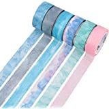 Molshine Natural Color Washi Masking Tape, Sticky Paper Tape For DIY, Decorative Craft, Gift Wrapping, Scrapbook, Nordic, Set Of 6