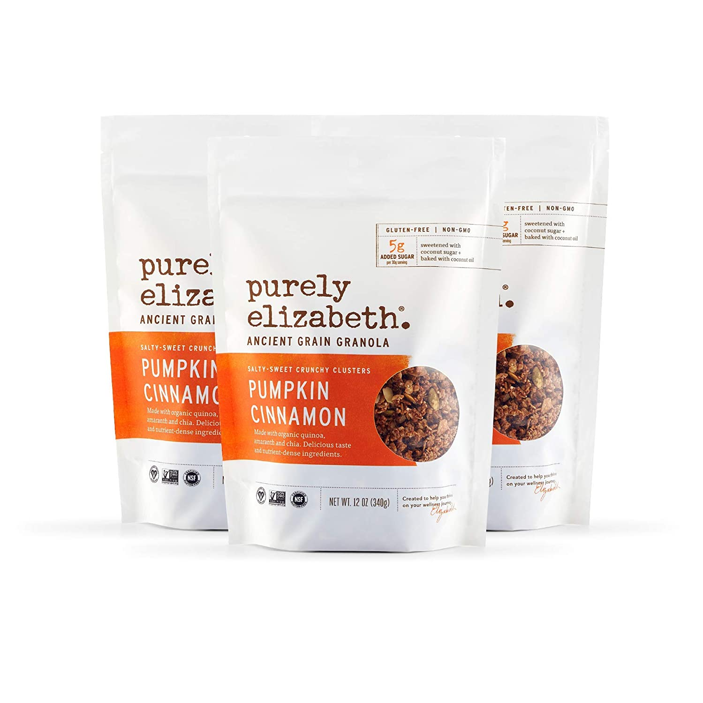 Purely Elizabeth Vegan Gluten-Free Ancient Grain Granola, Pumpkin Cinnamon (3 Ct.)