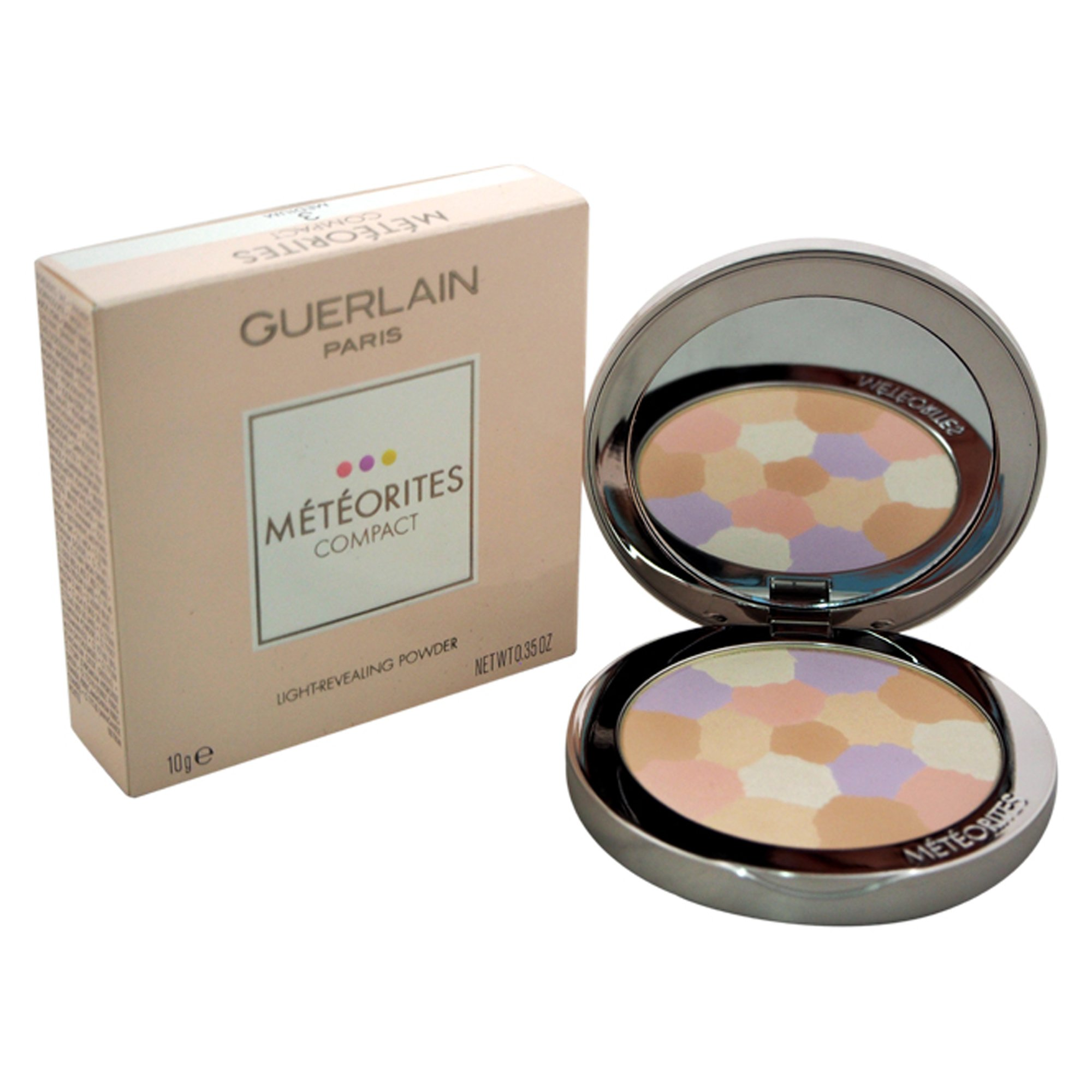 Guerlain Meteorites Compact Light Revealing Powder for Women, 3 Medium, 0.35 Ounce