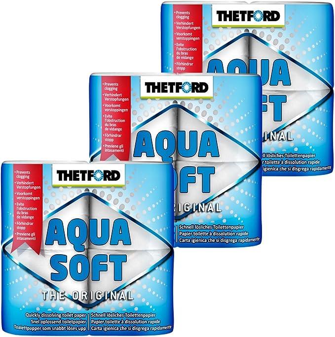 Thetford 3x Camping Toilettenpapier Aqua Soft Auto