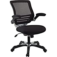 Modway Edge Back Seat Flip-Up Arms, Office Chair, Black Mesh