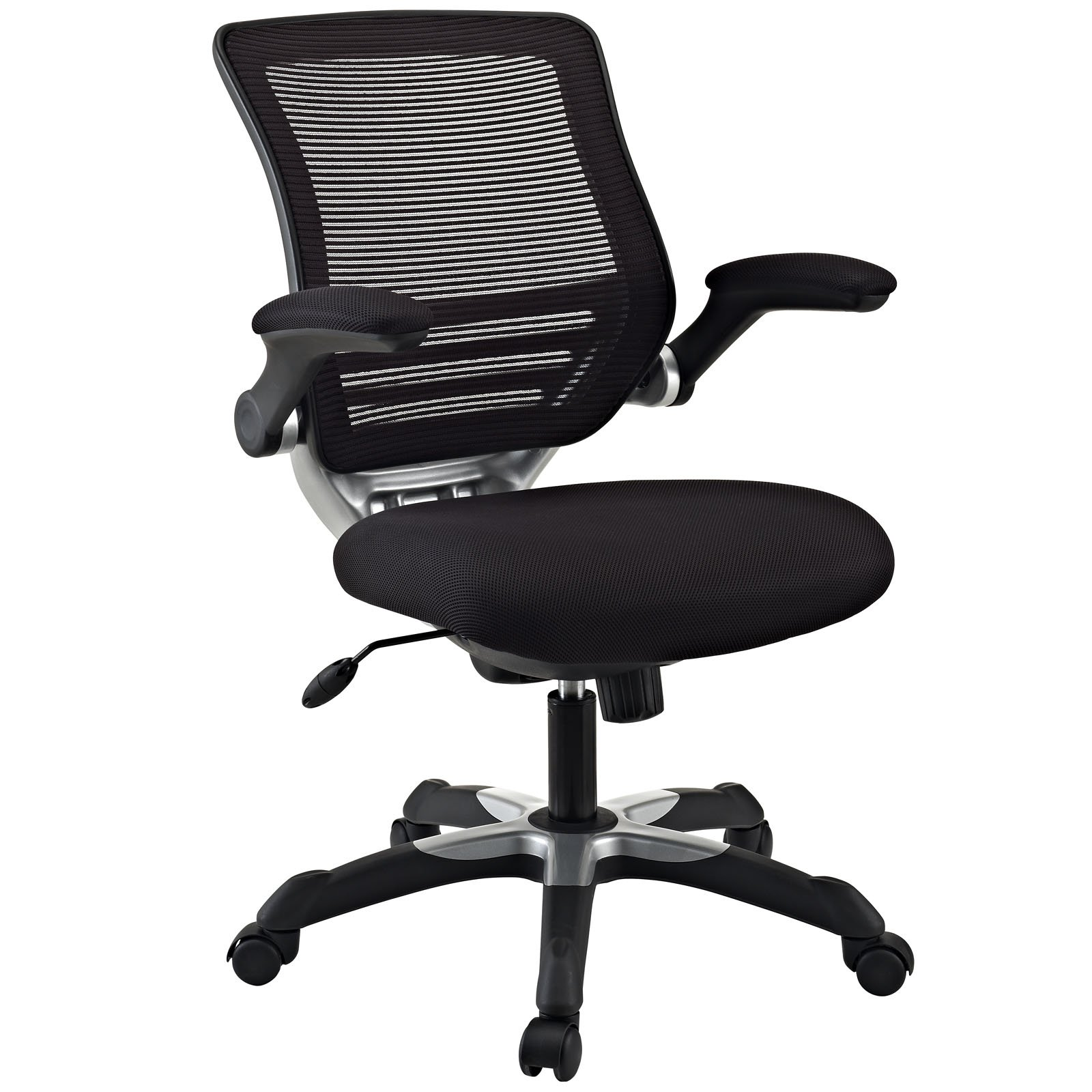 Modway Edge Mesh Back and Black Mesh Seat Office Chair With Flip-Up Arms - Ergonomic Desk And Computer Chair by Modway