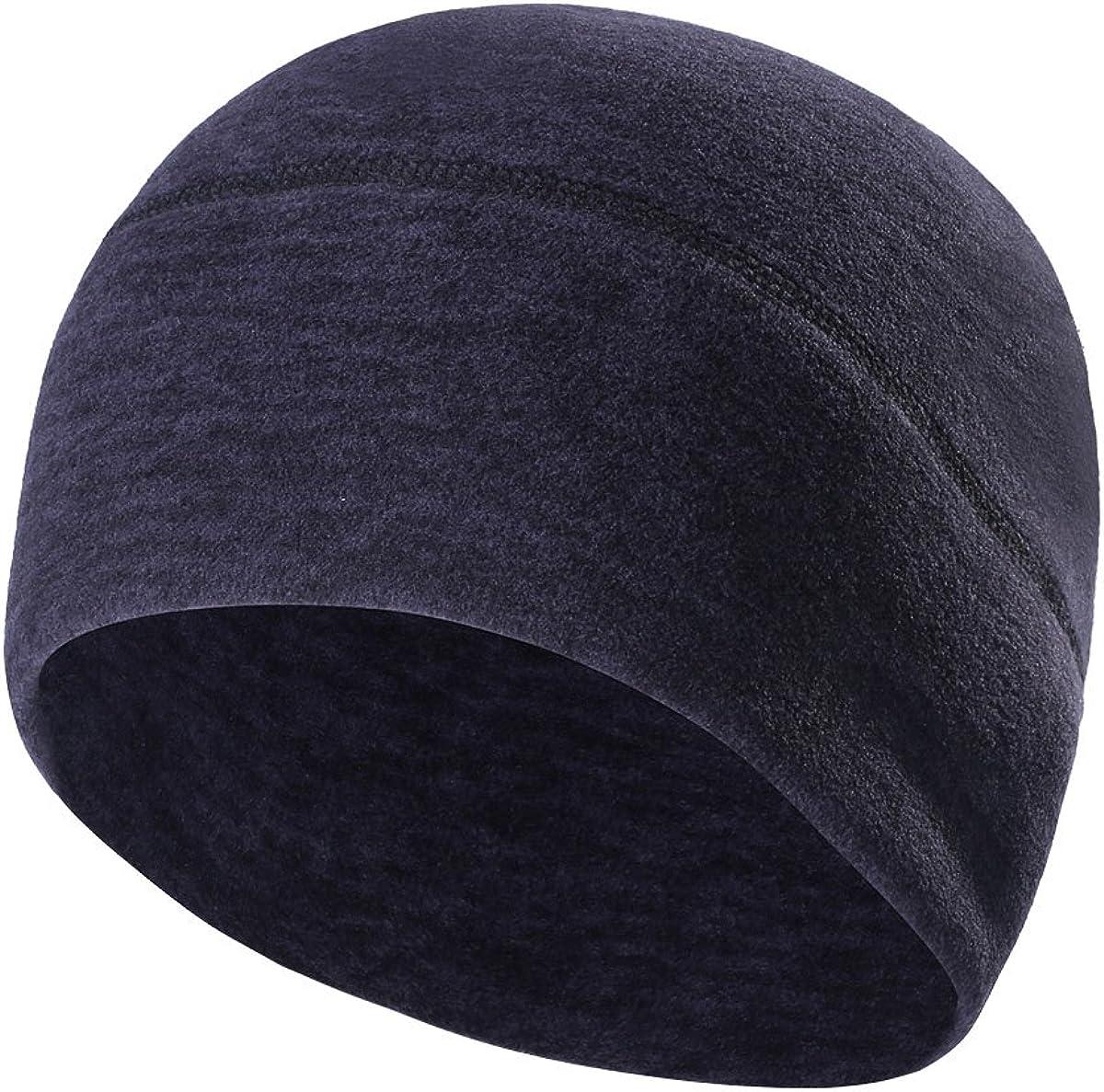 Skull Cap Ear Warmer Helmet Liner for Men - Winter Beanie Hat for Skiing,Running,Cycling - Fits Under Helmet