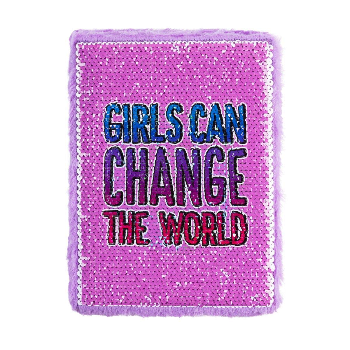 3C4G Girls Can Change The World Magic Sequins Journal - Changes Design with Your Fingertips (36057) 3C4G Three Cheers For Girls