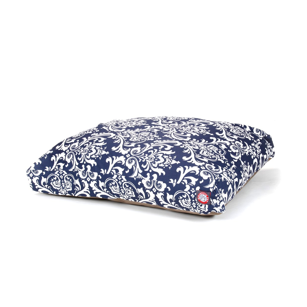 Majestic Pet Navy Blue French Quarter Medium Rectangle Indoor Outdoor Pet Dog Bed With Removable Washable Cover By Products